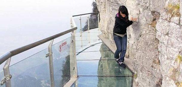 Стеклянная тропа страха, гора Тяньмэнь в Чжанцзяцзе