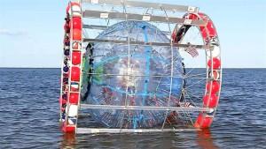 Man Attempts To Walk Across Ocean In Bubble