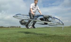 Изобретатель из Британии собрал в гараже летающий велосипед