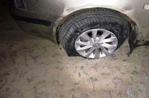 Остановить машину с подростками удалось, лишь прострелив колесо