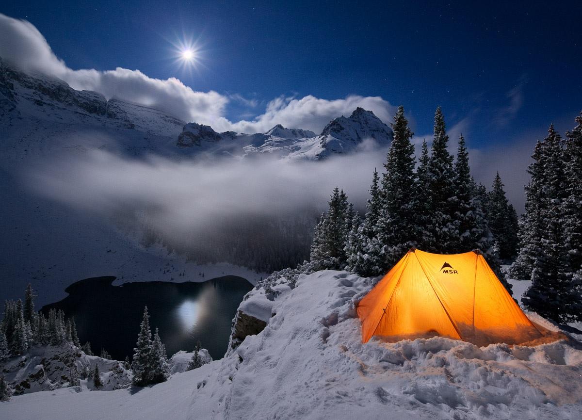 фото для заголвка поход зимой
