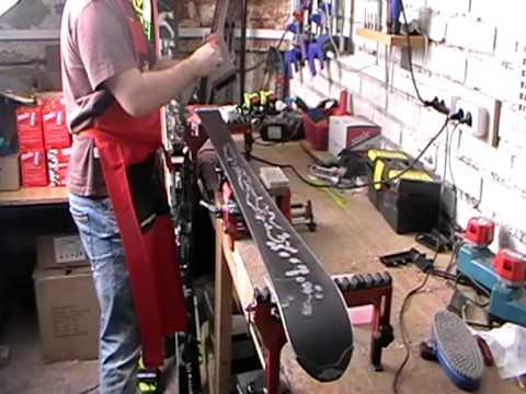 обработка лыж парафином