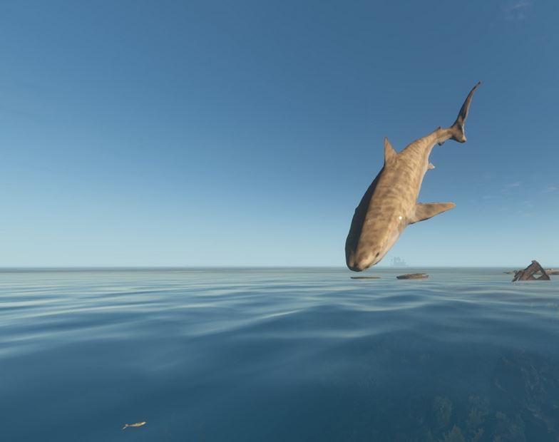 рыба еда в океане