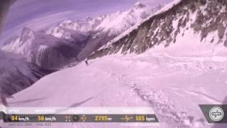 Домбай 2013 сноуборд трасса