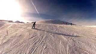 Сноуборд 2012 падения Хинтертукс,Австрия.Лендник