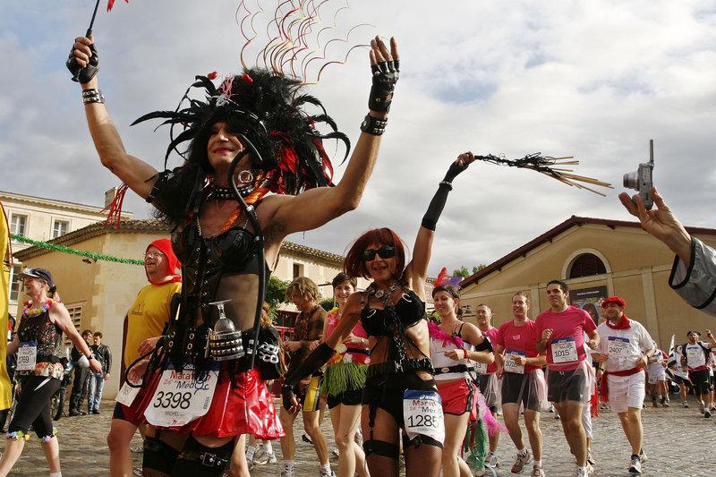Wine Enthusiasts Run The Marathon du Medoc