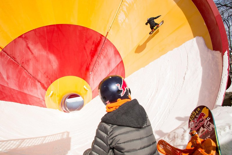 Toby Miller rides at Redbull Snowmuesment at Mountain Creek, New Jersey USA on 15 February 2015