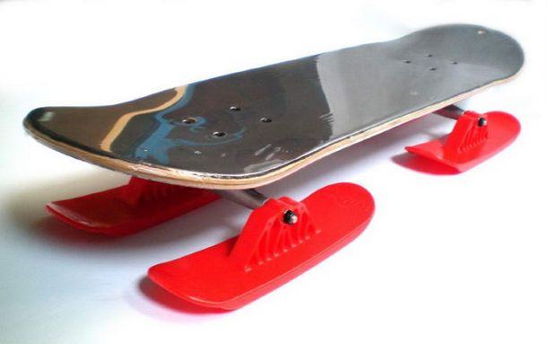 Скейтборд-сани